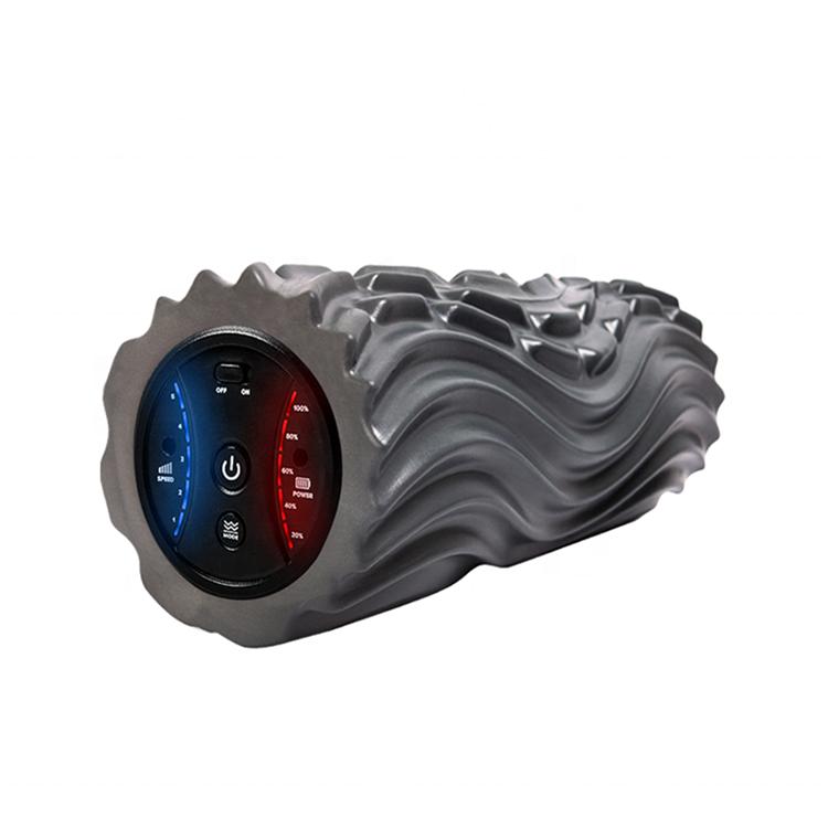 Customizable Smart Electric Heated Collapsible Black 90Cm Hard Kit Retractable Back Paint Massage High Density Foam Roller Set