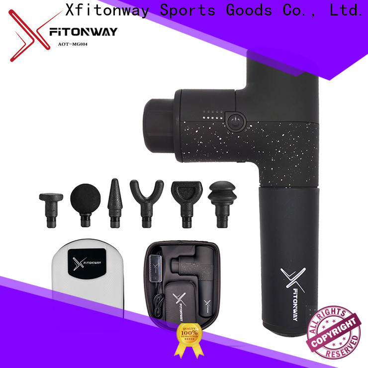 XFITONWAY massage gun with adjustable speeds for muscle tension relief