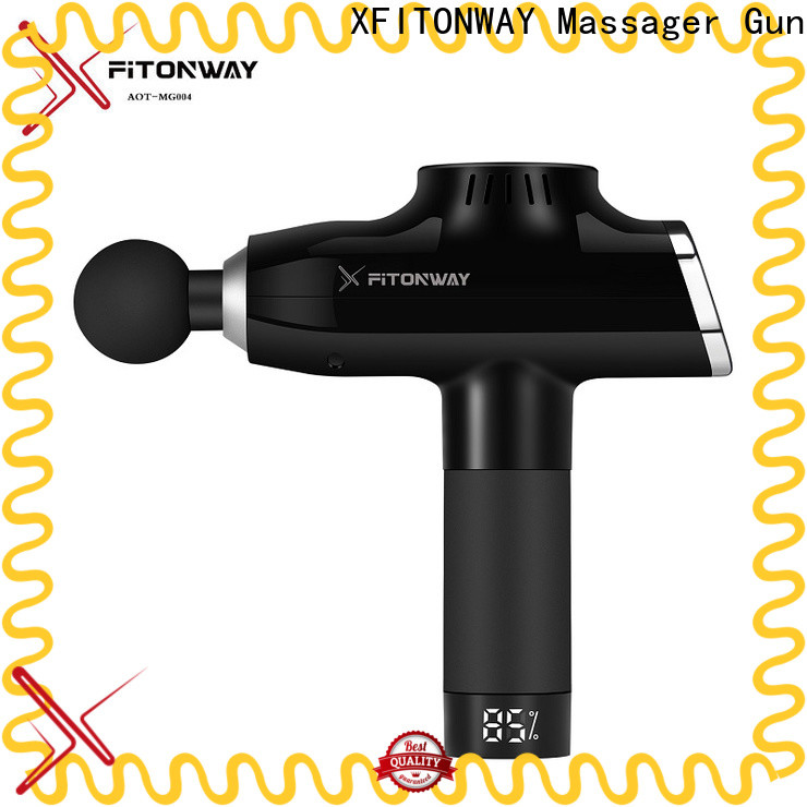 XFITONWAY stylish deep tissue percussion massager with adjustable speeds for neck pain relief