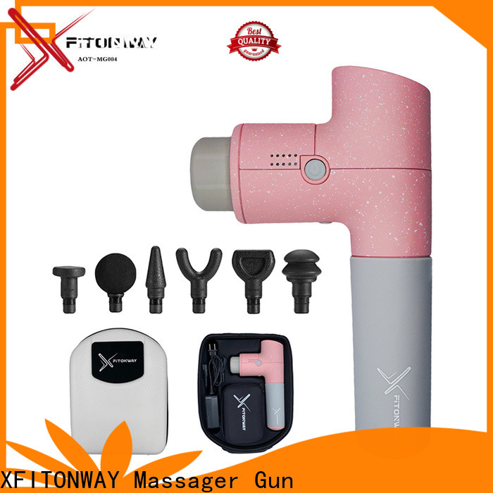 XFITONWAY best handheld percussion massager with removable battery for muscle stiffness and soreness
