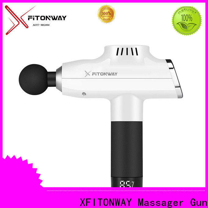 XFITONWAY deep tissue percussion massager with removable battery for deep relaxation